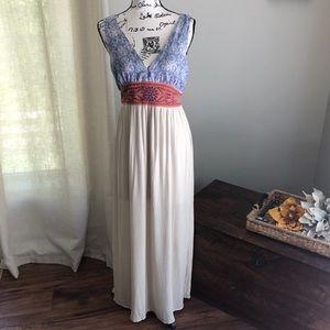 ✨SALE✨Flying Tomato: Boho Style V-Neck Maxi Dress